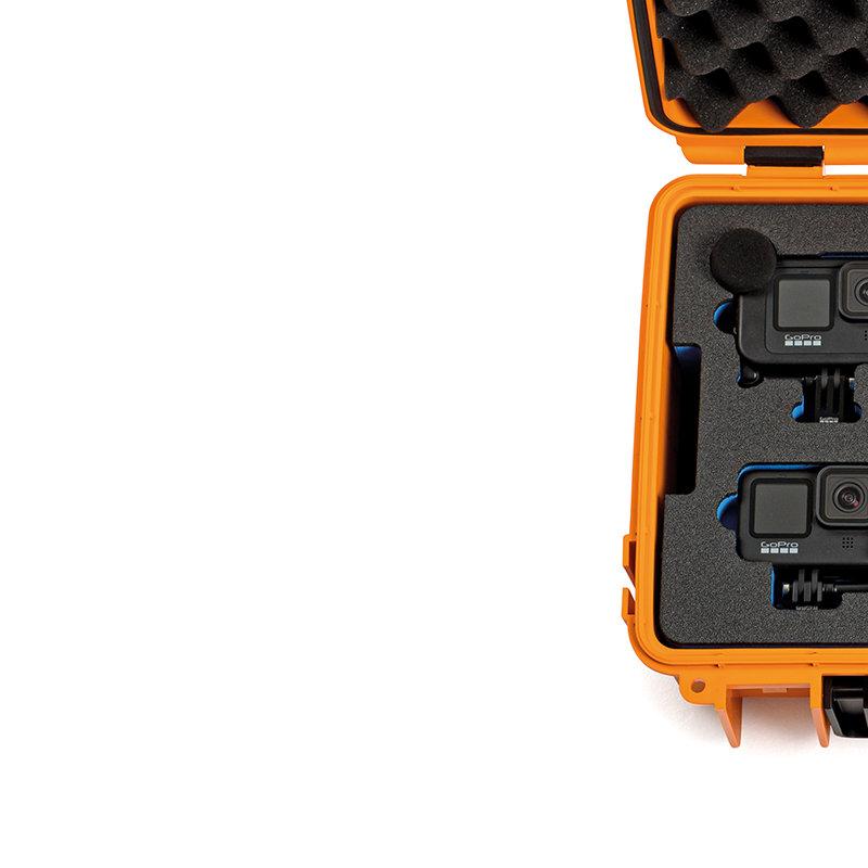 Inlay für drei GoPro 9 & Zubehör