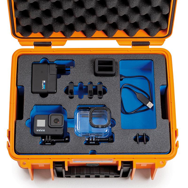 Inlay für zwei GoPro 8 & Zubehör