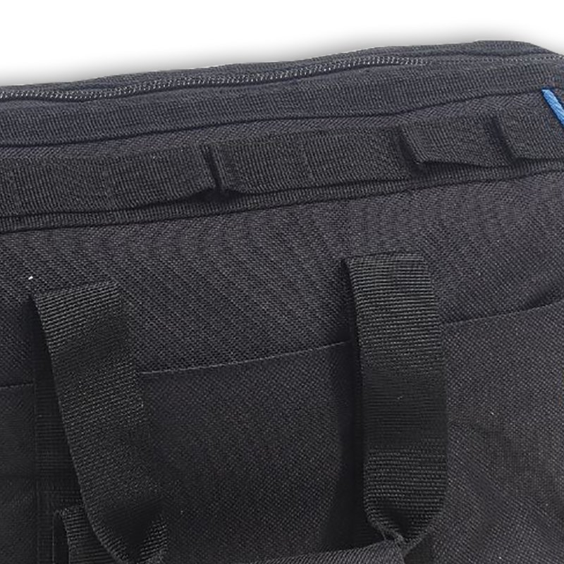 Padded shoulder strap and convenient carry handles