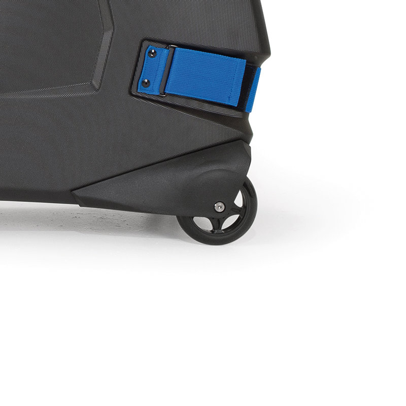 Four built-in, smooth-running casters
